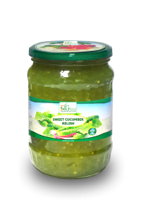 Sweet Cucumber Relish in Jar