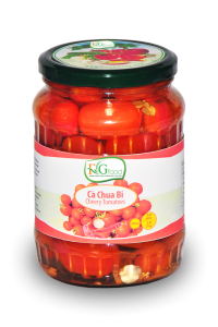 Pickled cherry tomatoes in jar 720ml