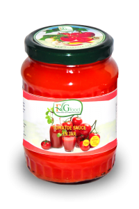 Tomatoes sauce in jar