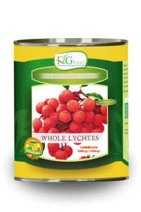 Canned lychees in syrup A10/3Kg