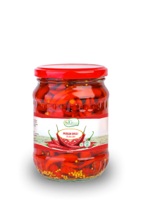 Pickled hot chilli in jar 380ml